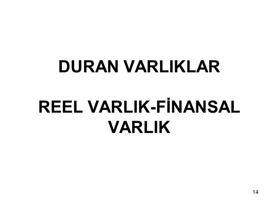 14 DURAN VARLIKLAR REEL VARLIK-FİNANSAL VARLIK