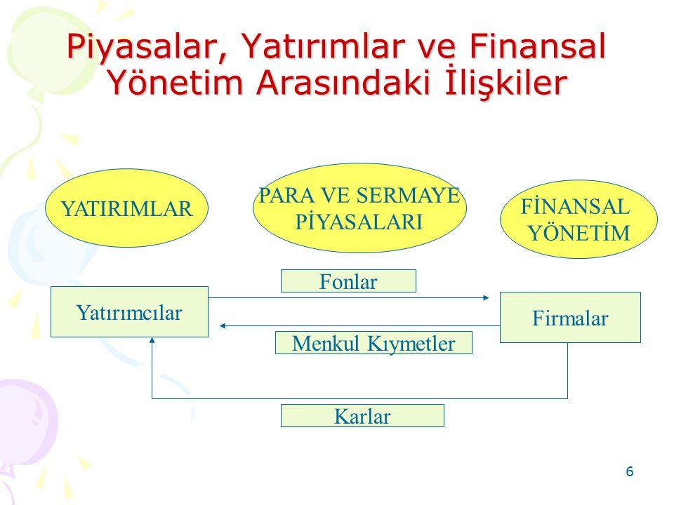 17 Finansman Fonksiyonunun İlkeleri Kısa süreli fon ihtiyacı cari pasifleri artırmakla karşılanmalıdır.