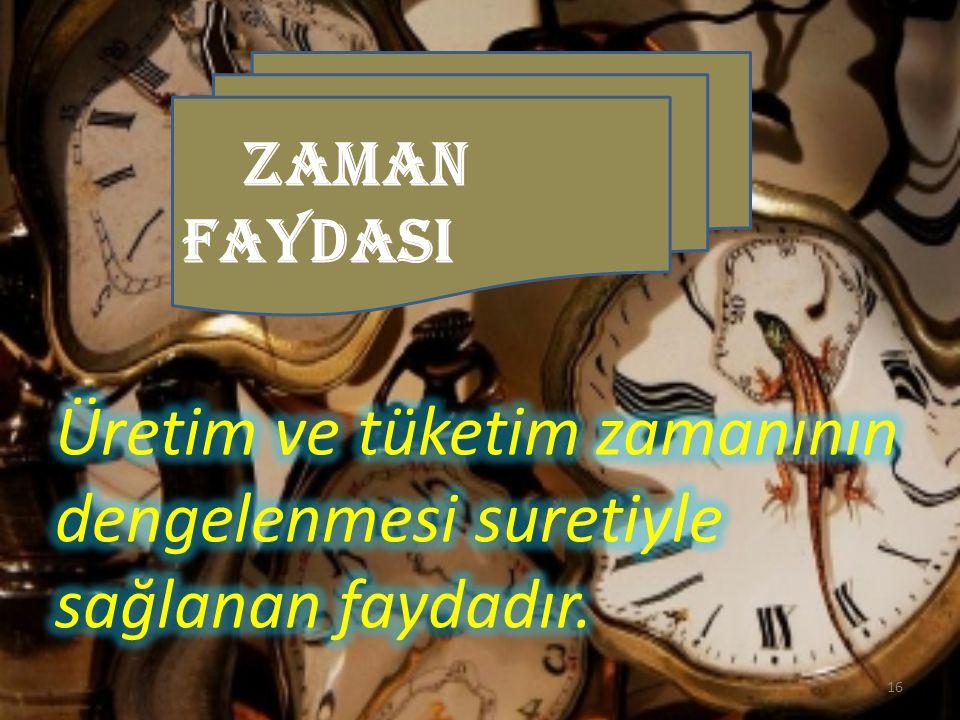 ZAMAN FAYDASI 16
