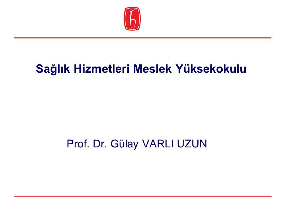 Sağlık Hizmetleri Meslek Yüksekokulu Prof. Dr. Gülay VARLI UZUN