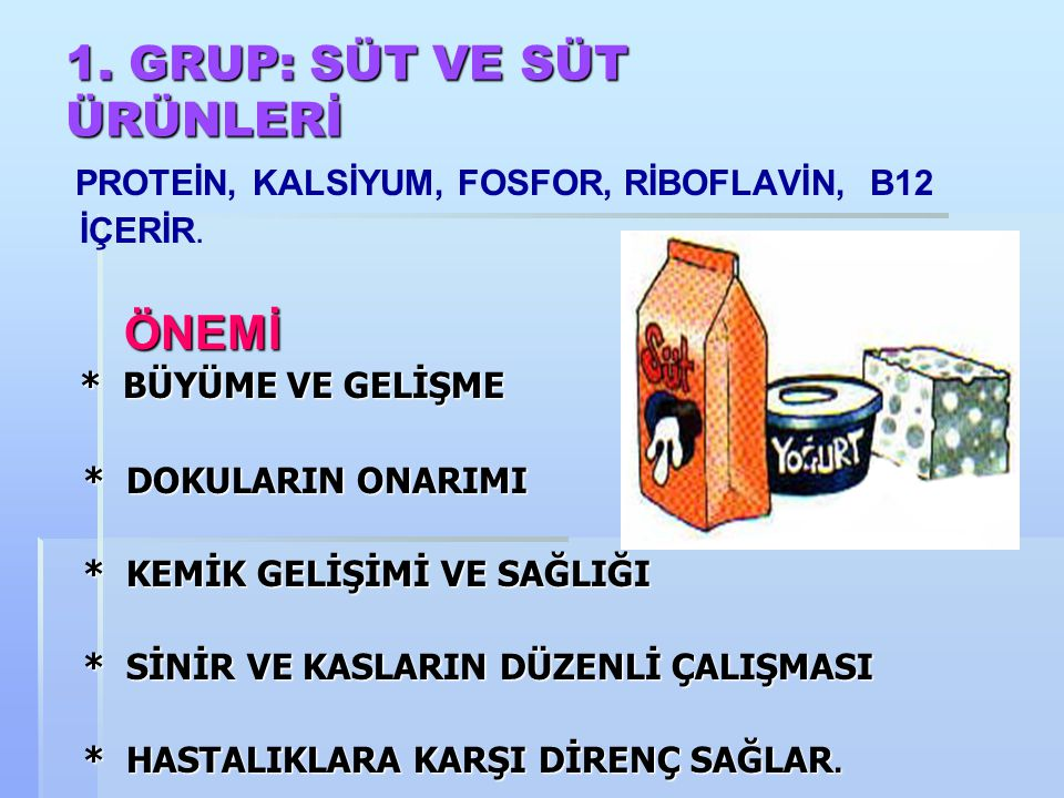 BESİN GRUPLARI  Süt ve Süt Ürünleri  Et Yumurta Kurubaklagiller  Taze Sebze ve Meyveler  Tahıllar ve Tahıl Ürünleri
