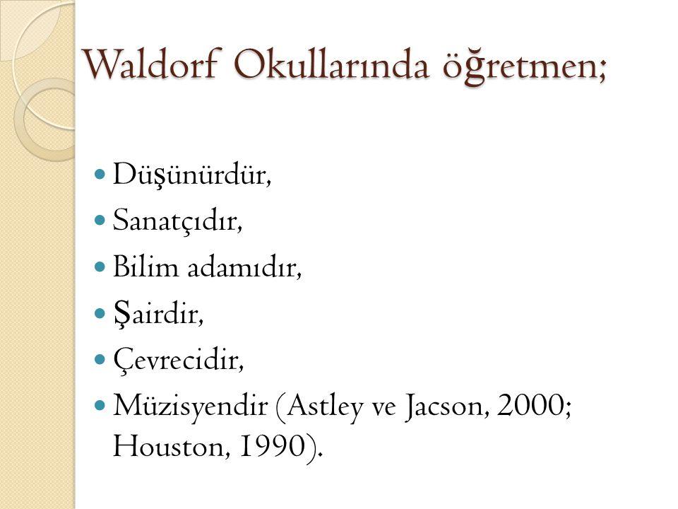 Waldorf Okullarında E ğ itim Waldorf programının temel amacını çocu ğ u bütünüyle e ğ itmektir; Beyin, kalp ve eller bu programın temel felsefesini olu ş turmaktadır.