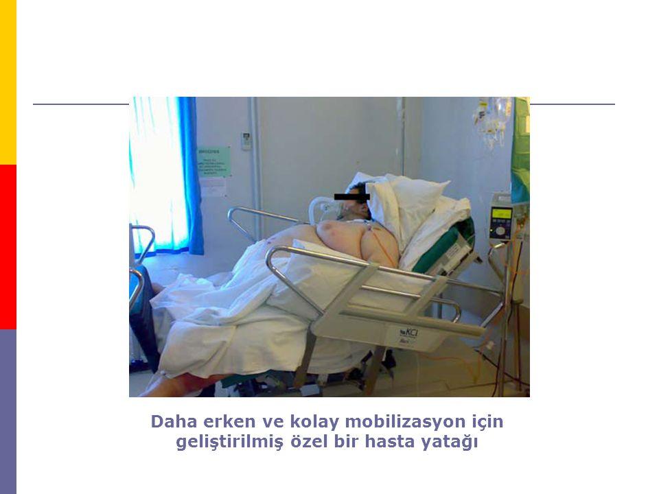 Daha erken ve kolay mobilizasyon için geliştirilmiş özel bir hasta yatağı