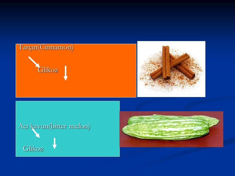 Tarçın(Cinnamon) Tarçın(Cinnamon)Glikoz Acı kavun(bitter melon) Acı kavun(bitter melon)Glikoz