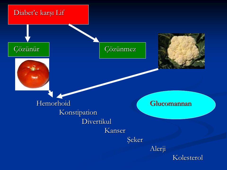 Diabet'e karşı Lif ÇözünürÇözünmez HemorhoidGlucomannan Konstipation Divertikul Kanser Şeker Alerji Kolesterol
