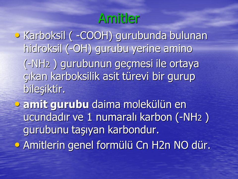 Amitler Amitler kendi içinde halkalı bir yapı gösterirse moleküle laktam adı verilir.