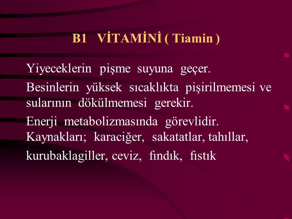 E VİTAMİNİ Üreme ve sinir sistemi üzerinde etkilidir. Antioksidan bir vitamindir. Kaynakları; Yeşil yapraklı bitkiler, yağlı tohumlar, tahıl taneleri,