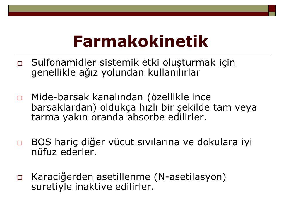 Sulfonamidlerin kullanılışı  Nokardiozis tedavisinde: En tercih edilen ilaçlardır  Şankroid (H.