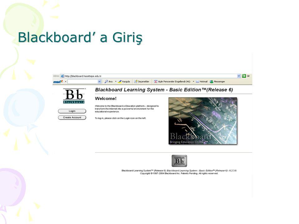 Blackboard' a Giriş