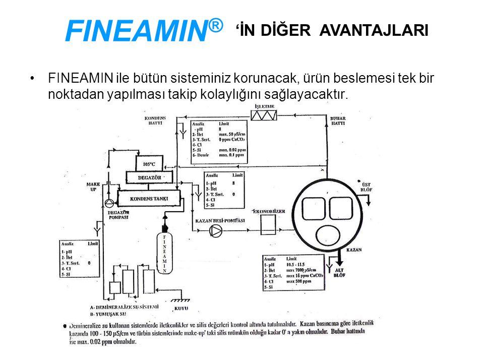 FINEAMIN ile bütün sisteminiz korunacak, ürün beslemesi tek bir noktadan yapılması takip kolaylığını sağlayacaktır.