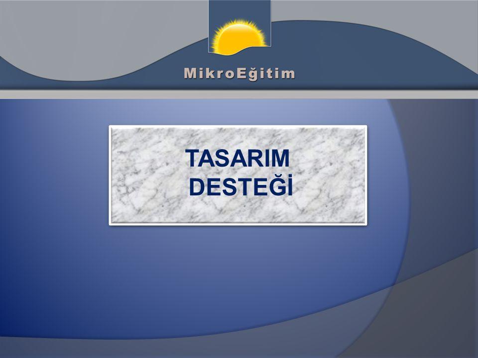 TASARIM DESTEĞİ TASARIM DESTEĞİ