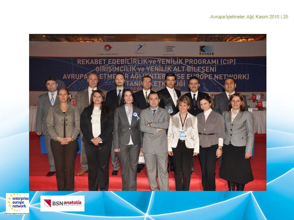 Avrupa İşletmeler Ağı| Kasım 2010 | 20