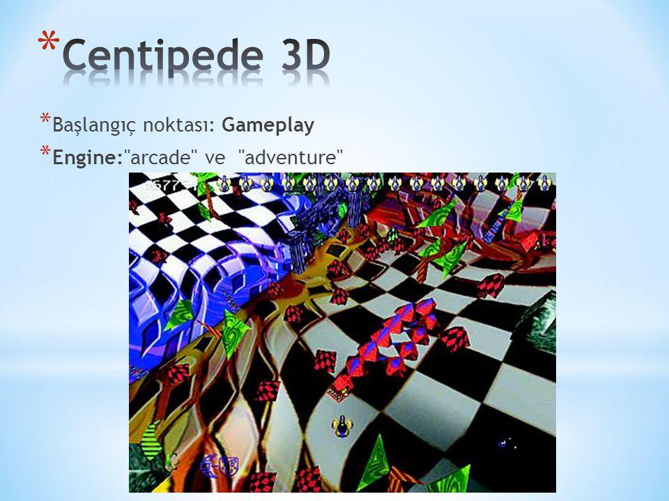 * Başlangıç noktası: Gameplay * Engine: