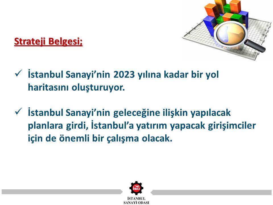 İstanbul Sanayi'nin 2023 yılına kadar bir yol haritasını oluşturuyor.