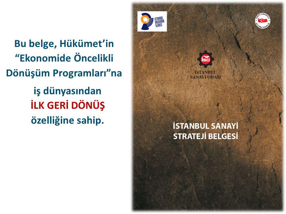 İstanbul'un yerleşimiyle ilgili tasarlanan gelecek vizyonunda sanayinin dışlanmakta olduğunu görüyoruz.