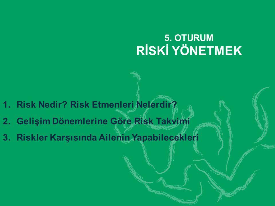 5.OTURUM RİSKİ YÖNETMEK 1.Risk Nedir. Risk Etmenleri Nelerdir.