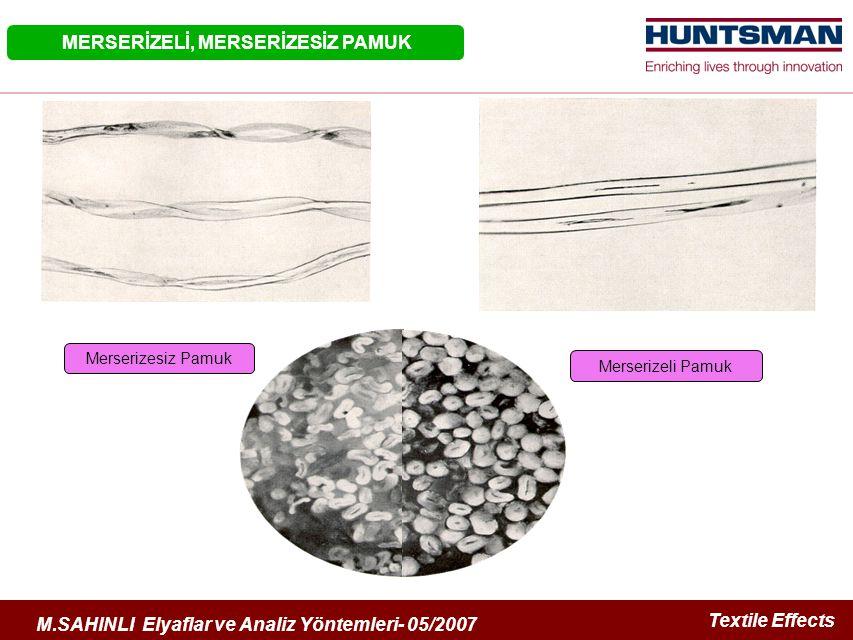 Textile Effects M.SAHINLI Elyaflar ve Analiz Yöntemleri- 05/2007 Seconder Çeper Primer Çeper Lümen PAMUĞUN YAPISI