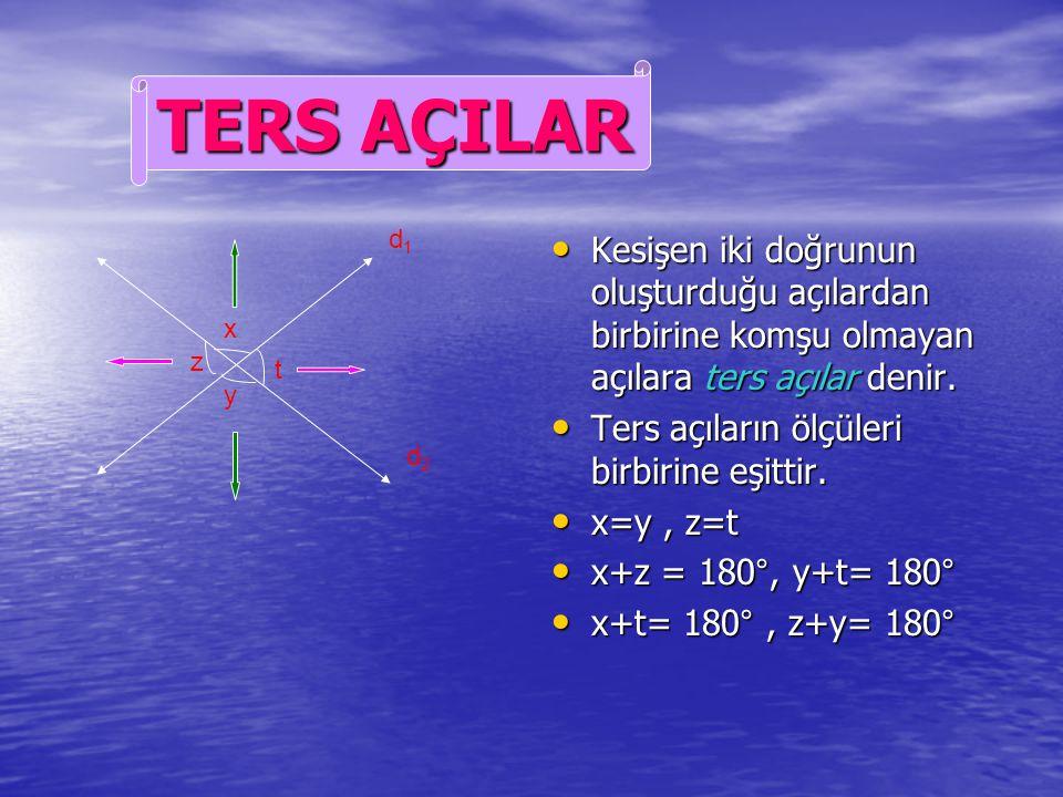 Komşu bütünler iki açının açıortayları arasında kalan açı 90° dir. Komşu bütünler iki açının açıortayları arasında kalan açı 90° dir. a+b= 90° a+b= 90