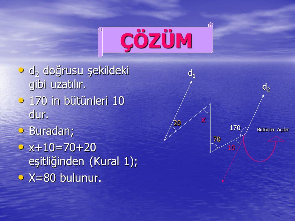 d 1 d 2 ise x=? d 1 d 2 ise x=? ÖRNEK d1d1d1d1 d2d2d2d2 20 20 x 70 170