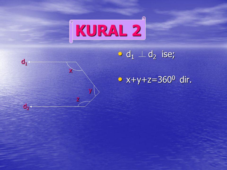 d 2 doğrusu şekildeki gibi uzatılır. d 2 doğrusu şekildeki gibi uzatılır. 170 in bütünleri 10 dur. 170 in bütünleri 10 dur. Buradan; Buradan; x+10=70+