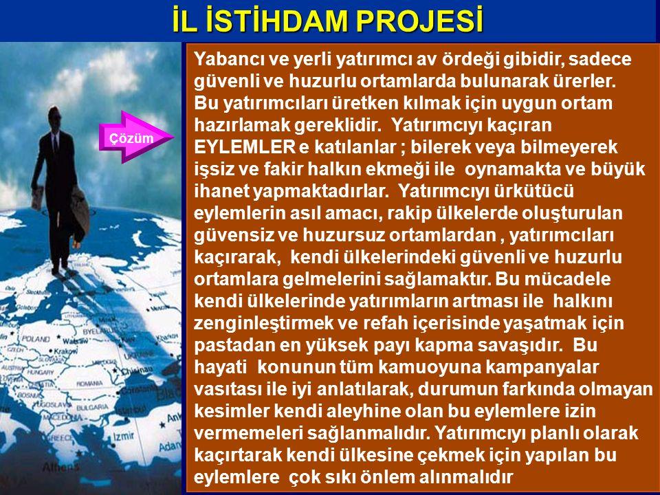 Yabancı ve yerli yatırımcı av ördeği gibidir, sadece güvenli ve huzurlu ortamlarda bulunarak ürerler.
