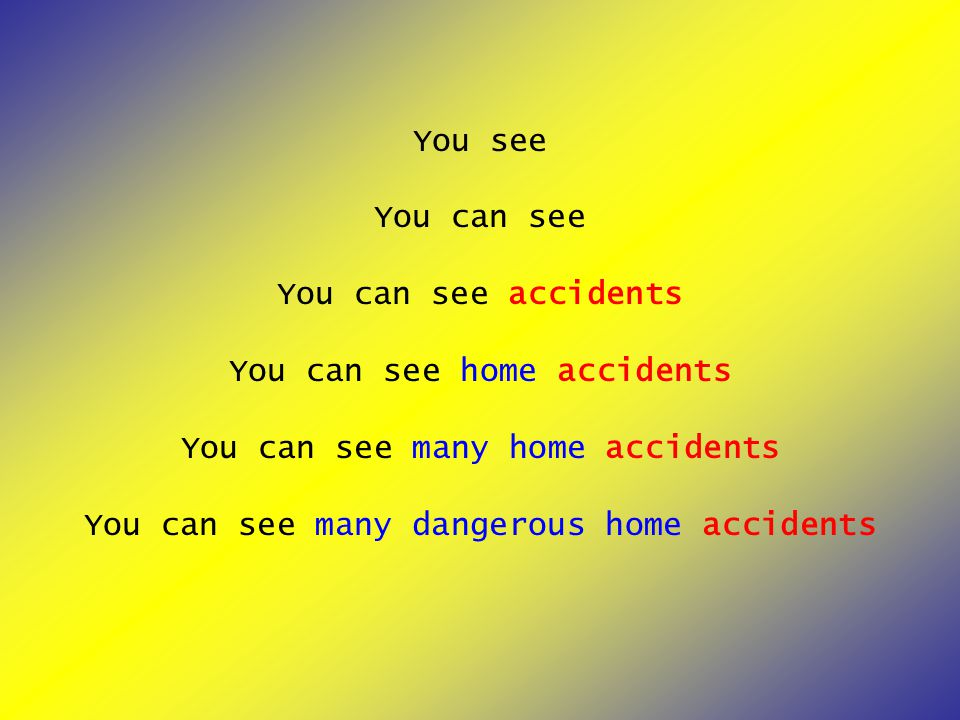 You see You can see You can see accidents You can see home accidents You can see many home accidents You can see many dangerous home accidents
