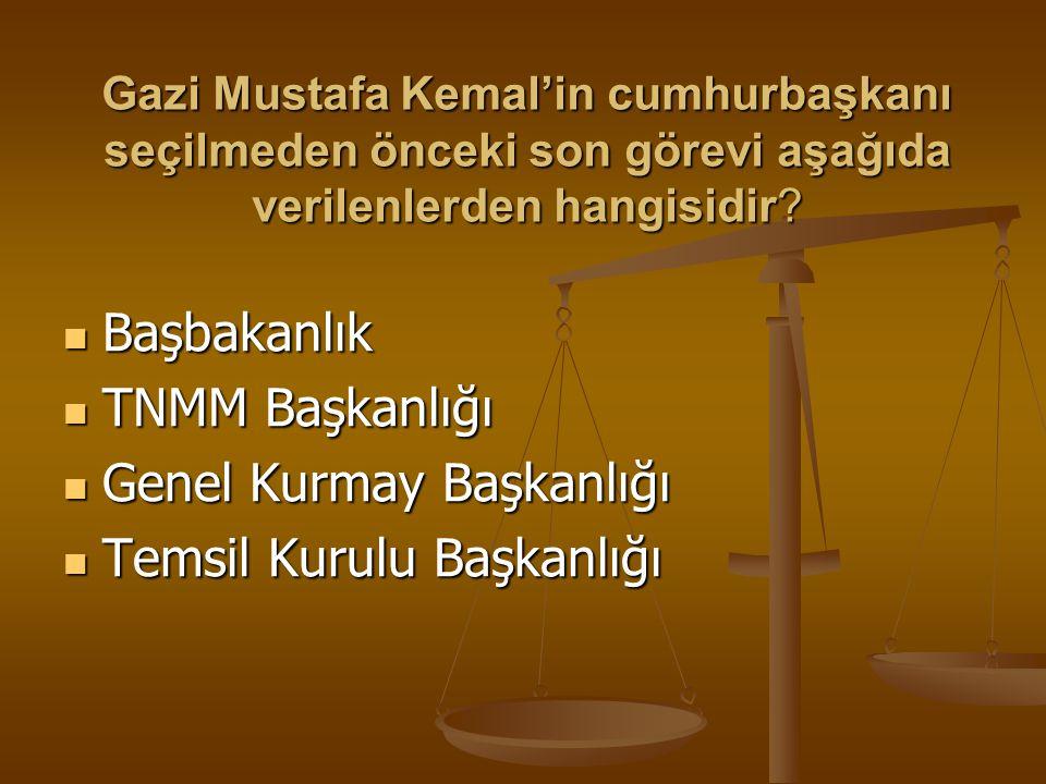 Mustafa Kemal,aşağıdaki sözlerden hangisiyle devlet rejiminin değiştirilebileceğine ilişkin bir ipucu vermemiştir ? Egemenlik kayıtsız şartsız milleti