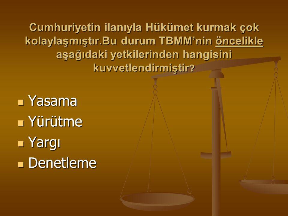 Cumhuriyetin ilanının sonuçları arasında aşağıdakilerden hangisi gösterilemez? Atatürk cumhurbaşkanı seçildi. Atatürk cumhurbaşkanı seçildi. Meclis Hü