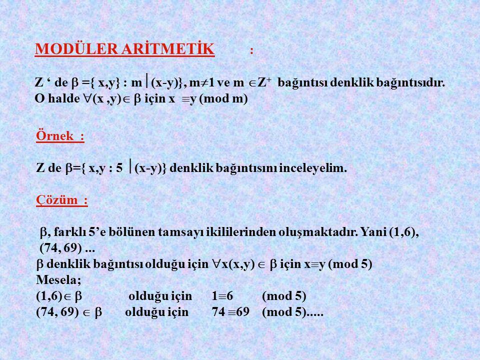 Örnek : R2 R2 de tanımlanan (a,b)  (c,d) =( a+c,b+d) işleminin etkisiz elemanı nedir? Çözüm : Etkisiz eleman (x. Y) olsun. İşlem değişme özelliğine s