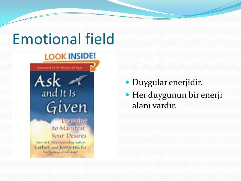 Emotional field Duygular enerjidir. Her duygunun bir enerji alanı vardır.