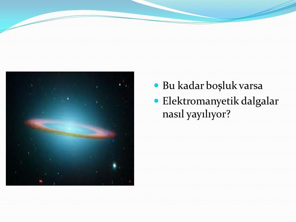 Bu kadar boşluk varsa Elektromanyetik dalgalar nasıl yayılıyor?