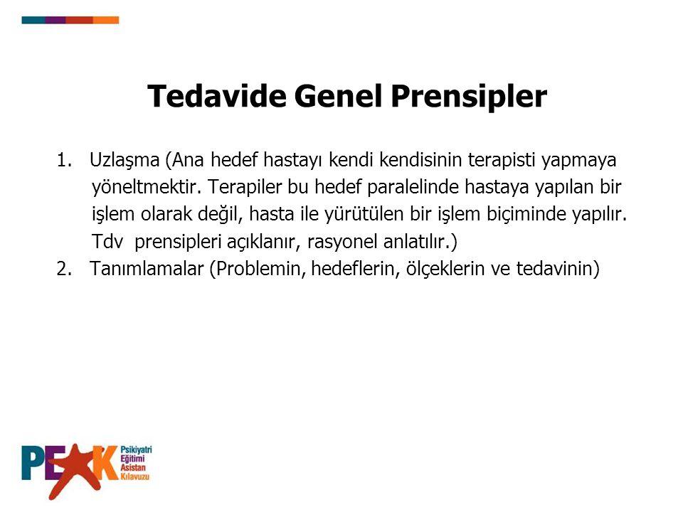 Tedavide Genel Prensipler 1.
