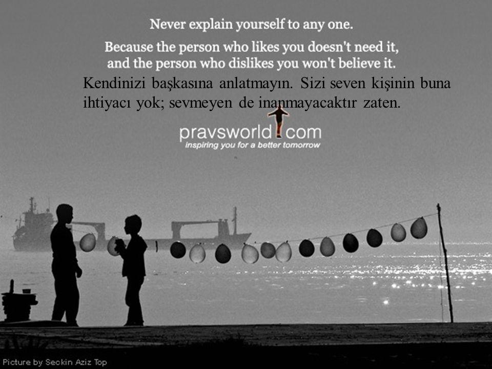  Click Kendinizi başkasına anlatmayın.