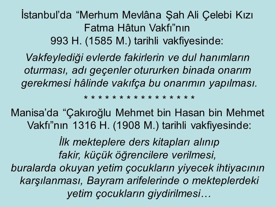 """Edirne'de """"Sinan Paşa Vakfı""""na ait 933 H. (1526 M.) tarihli vakfiyede: Gelirin beş kısma bölünmesi, bir kısmın vakıf mütevellisine verilmesi, diğer dö"""