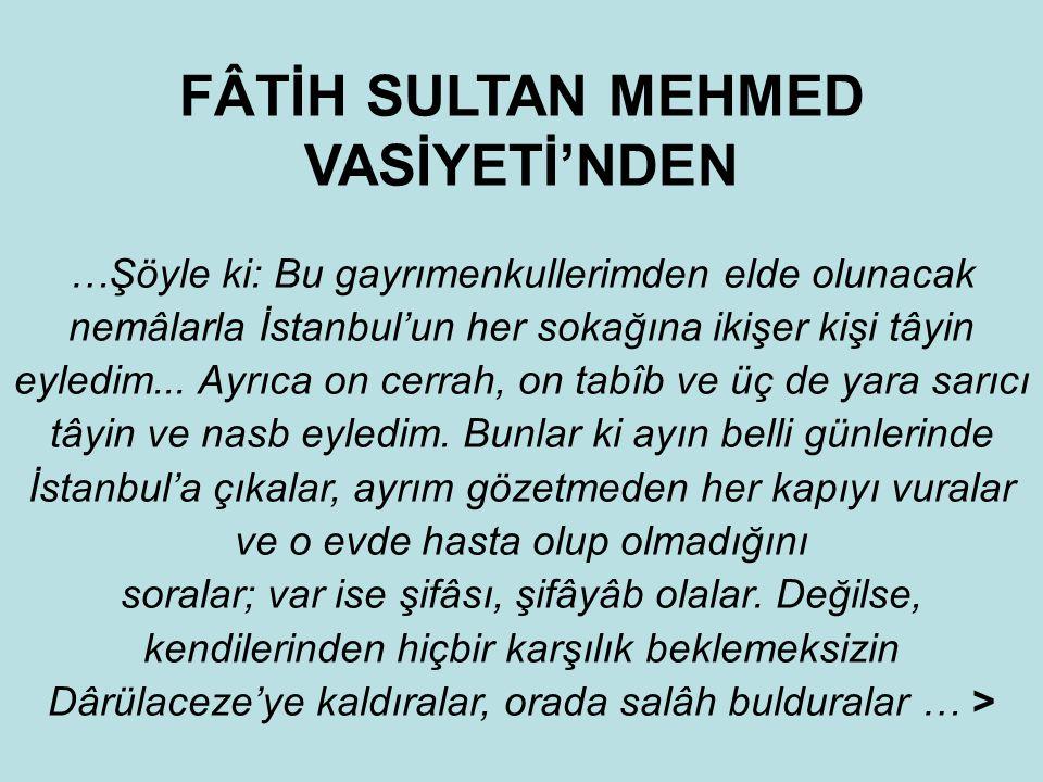 """İstanbul'da """"Merhum Mevlâna Şah Ali Çelebi Kızı Fatma Hâtun Vakfı""""nın 993 H. (1585 M.) tarihli vakfiyesinde: Vakfeylediği evlerde fakirlerin ve dul ha"""