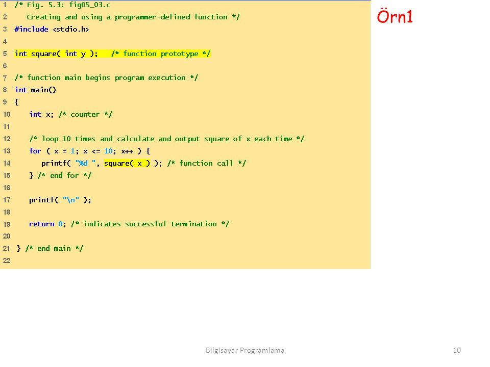 Örn1 10Bilgisayar Programlama