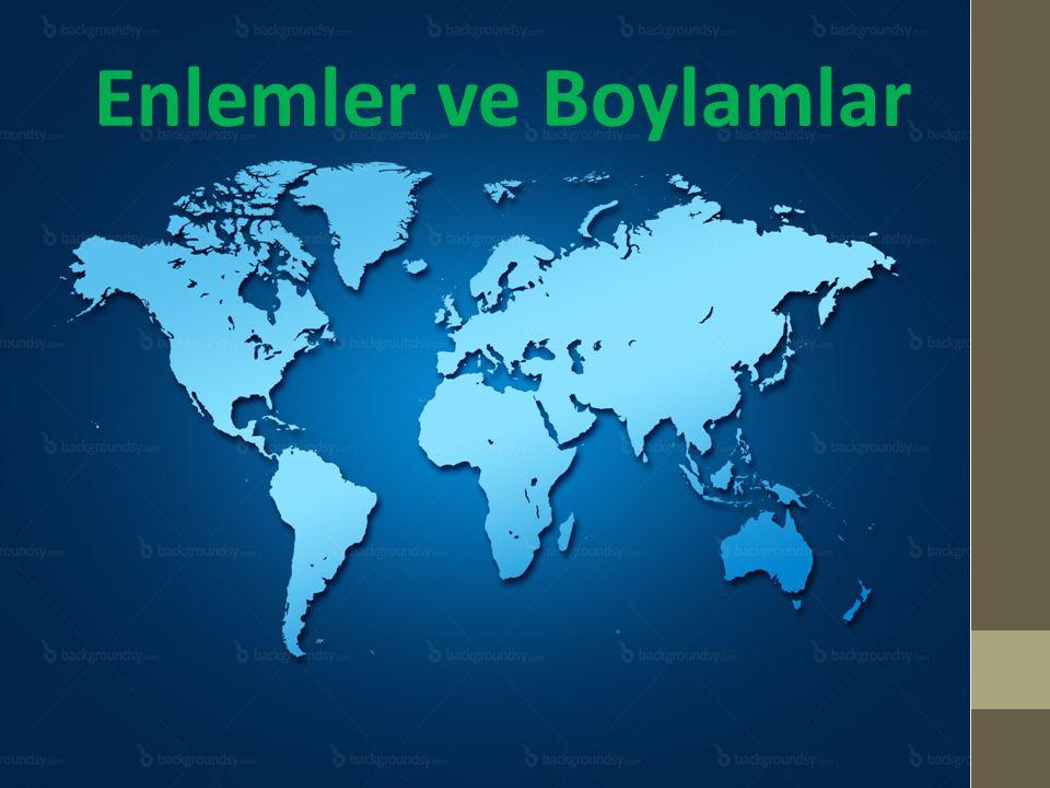 Türkiye'nin Matematik Konumu 26- 45 Doğu meridyenleri arasında bulunur.