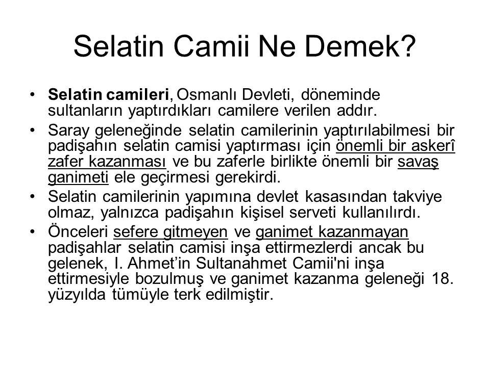Selatin Camii Ne Demek.