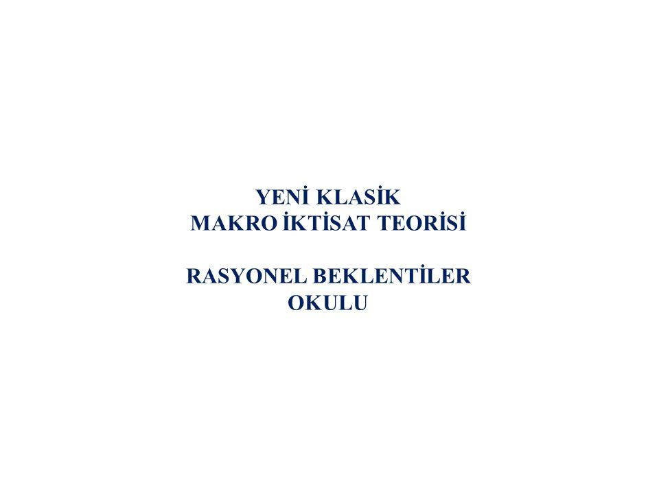 ORTAYA ÇIKIŞI Yeni Klasik Makro İktisat Teorisi köklerini, esas itibariyle Ortodoks paracı makro iktisat teorisinden almış olmakla birlikte, 1970 li yıllarda paracı yaklaşımdan ayrılmış ve farklı bir teori haline dönüşmüştür.
