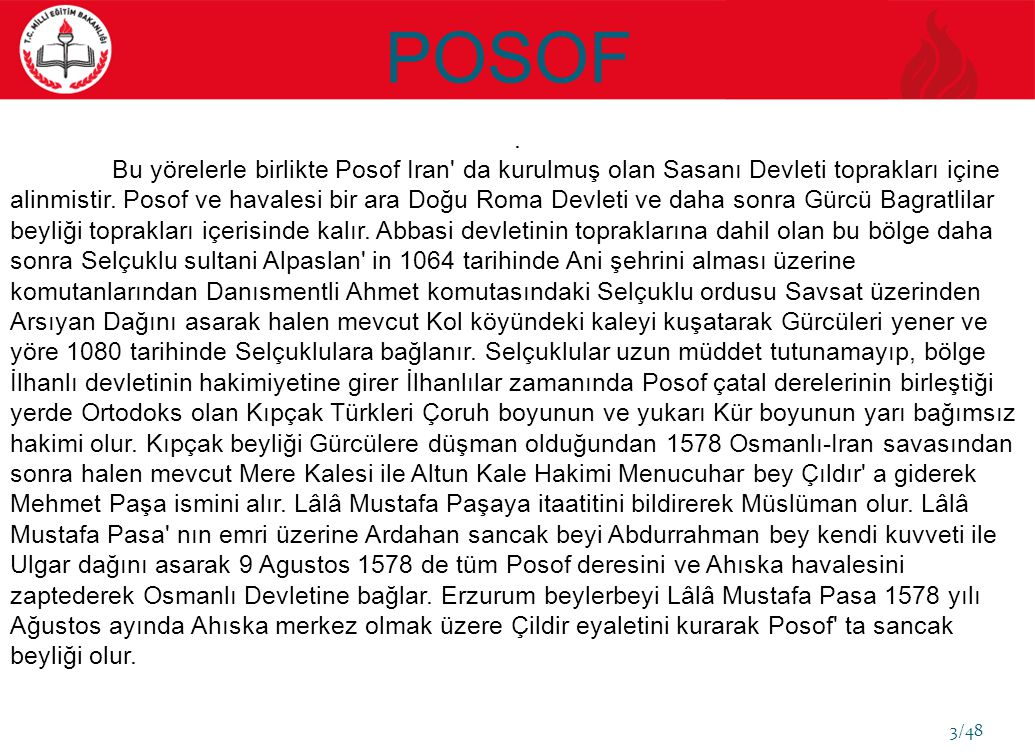 POSOF EĞİTİM GÖSTERGELERİ YGS (ORTAÖĞRETİM) YILLAR 12.