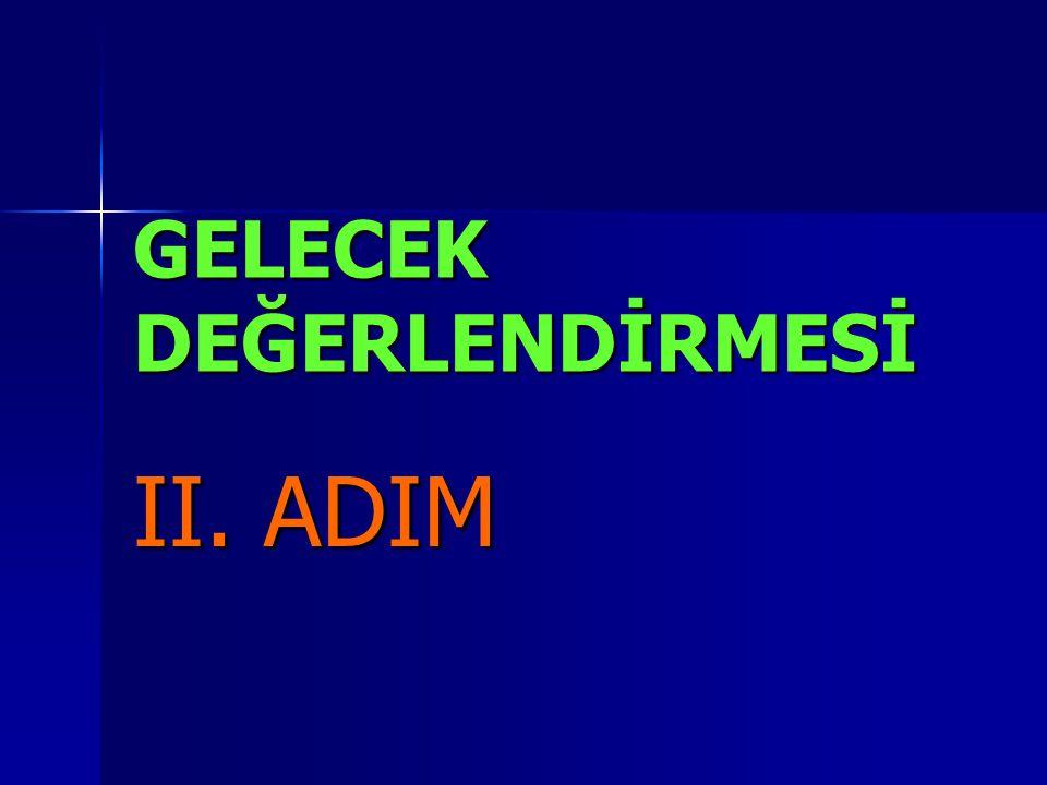 GELECEK DEĞERLENDİRMESİ II. ADIM