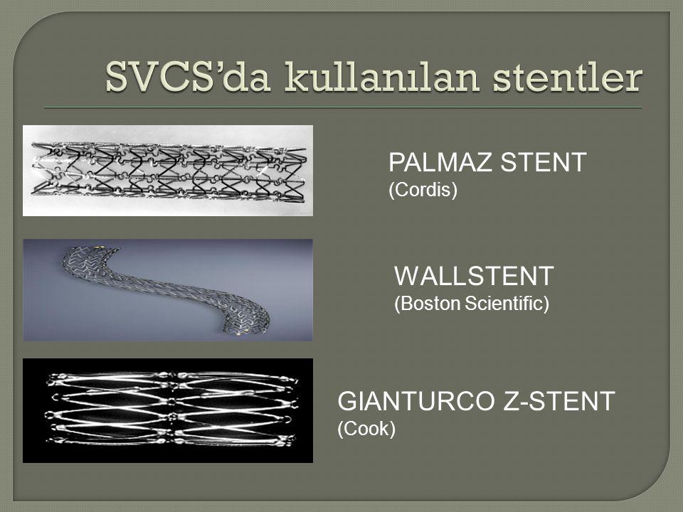 PALMAZ STENT (Cordis) WALLSTENT (Boston Scientific) GIANTURCO Z-STENT (Cook)