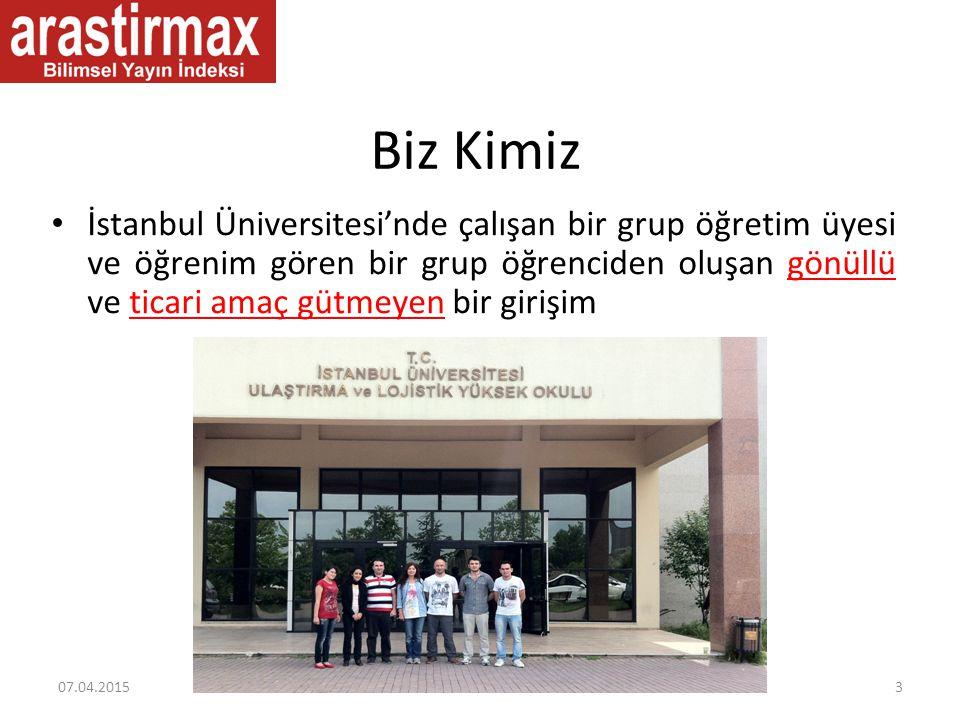 Biz Kimiz İstanbul Üniversitesi'nde çalışan bir grup öğretim üyesi ve öğrenim gören bir grup öğrenciden oluşan gönüllü ve ticari amaç gütmeyen bir gir