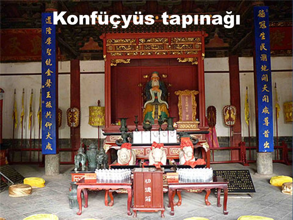 Konfüçyüs dini et Taoizm  230 milyon inanan  Dünya nüfusunun % 3,4 ü  Geçerli olduğu yer :  Çin