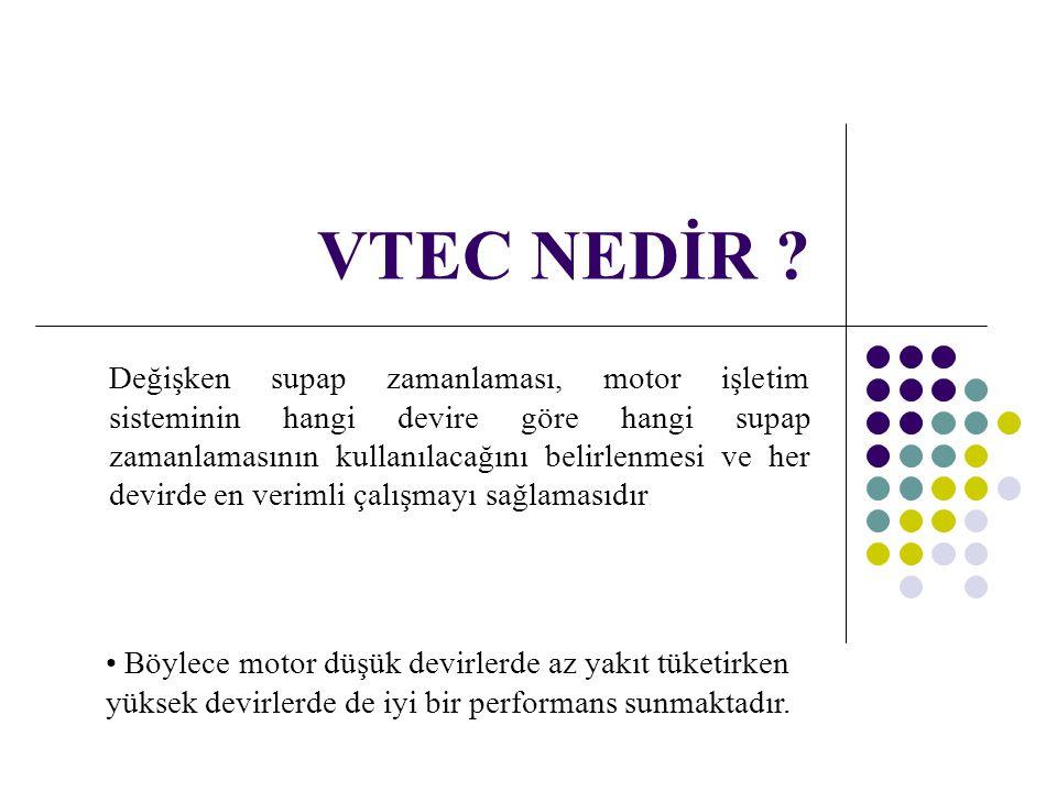 VTEC NEDİR ? Değişken supap zamanlaması, motor işletim sisteminin hangi devire göre hangi supap zamanlamasının kullanılacağını belirlenmesi ve her dev