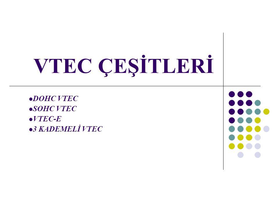 VTEC ÇEŞİTLERİ DOHC VTEC SOHC VTEC VTEC-E 3 KADEMELİ VTEC