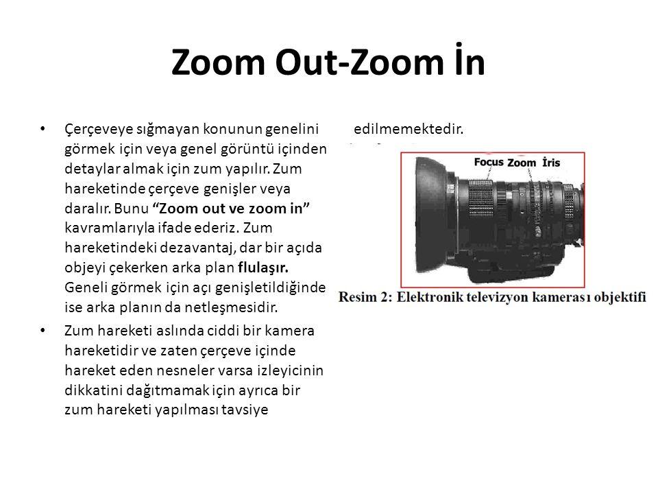 Zoom Out-Zoom İn Çerçeveye sığmayan konunun genelini görmek için veya genel görüntü içinden detaylar almak için zum yapılır.