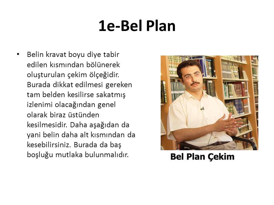 1e-Bel Plan Belin kravat boyu diye tabir edilen kısmından bölünerek oluşturulan çekim ölçeğidir.