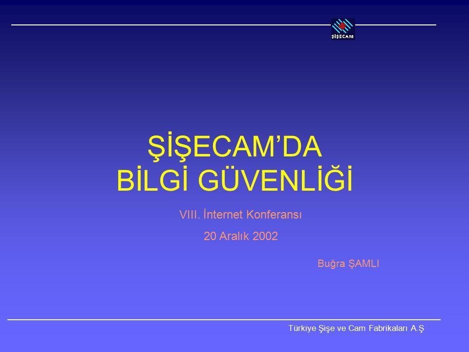 Türkiye Şişe ve Cam Fabrikaları A.Ş Camnet'in Denetimi Yalnızca İnternet protokolüne (IP) izin verilir.