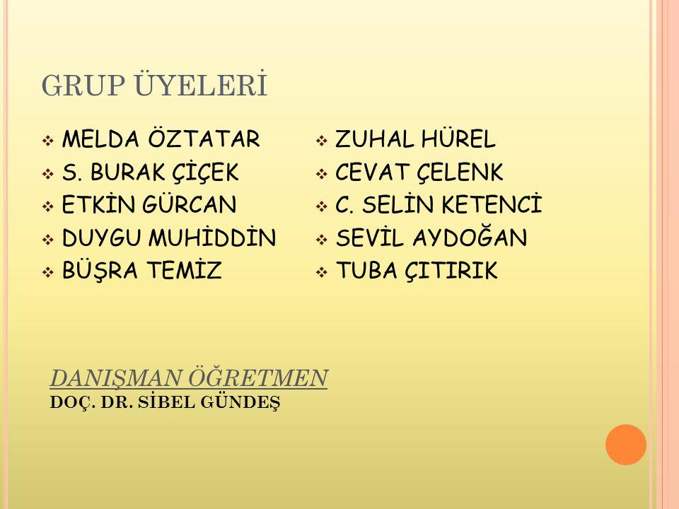 GRUP ÜYELERİ  MELDA ÖZTATAR  S.